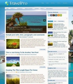 40+ Free Travel Blogger Templates
