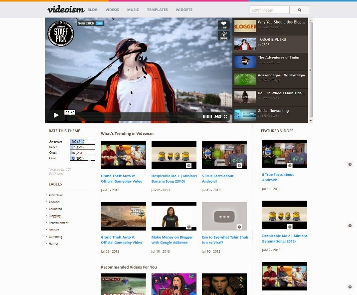 10 free blogger video templates webprecis for Blogger product review template