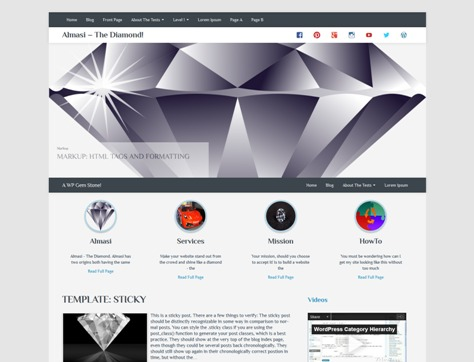 Almasi Free WordPress Theme