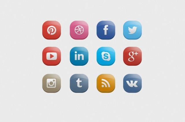 Candy Social Media Icons