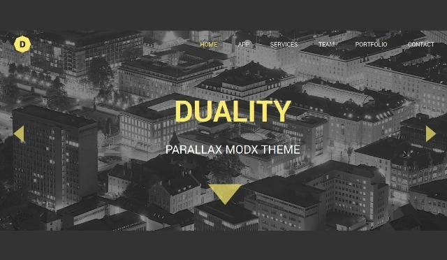 Duality MODX One Page Theme