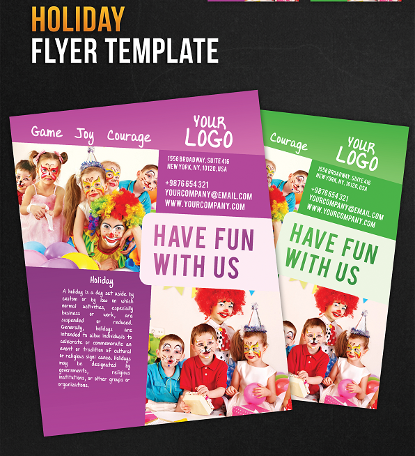 Holiday Flyer PSD Template
