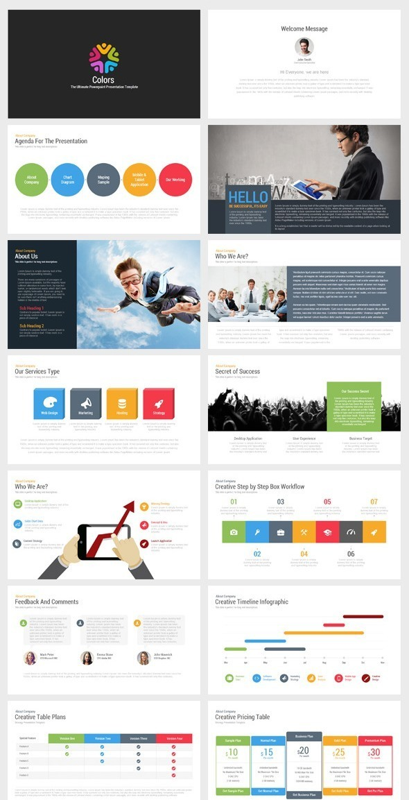 Colors - Ultimate Multipurpose PowerPoint Template