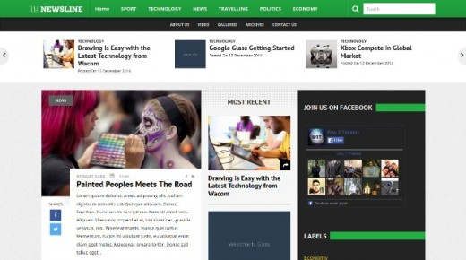 20 Best Free Responsive Blogger Templates 2015