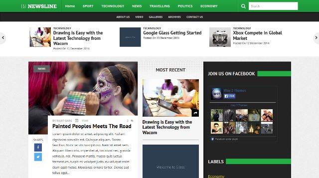 Newsline Responsive Blogger Template