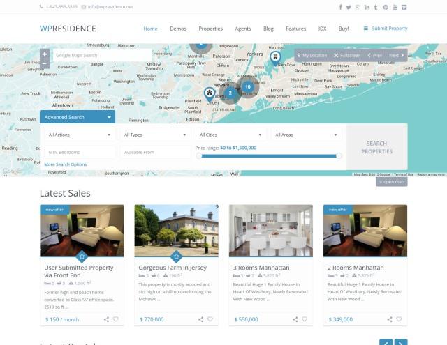 WP Residence Real Estate WordPress Theme