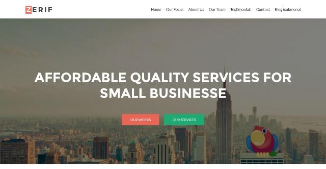 Zerif Lite One Page WordPress Theme