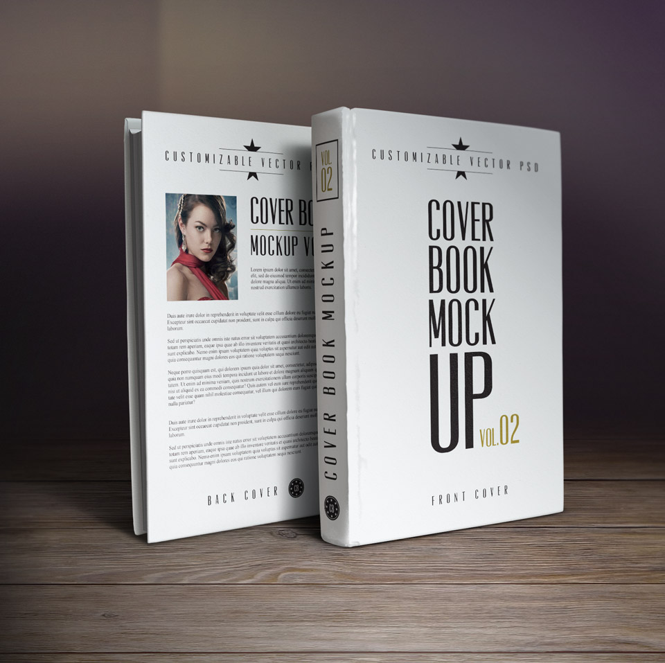 book cover template psd