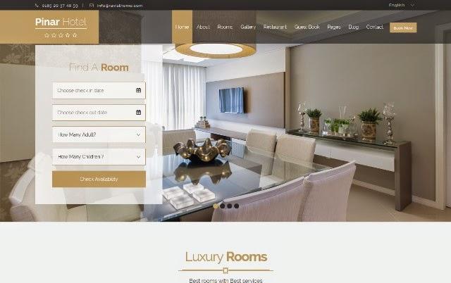 Pinar Hotel - Responsive Booking Template