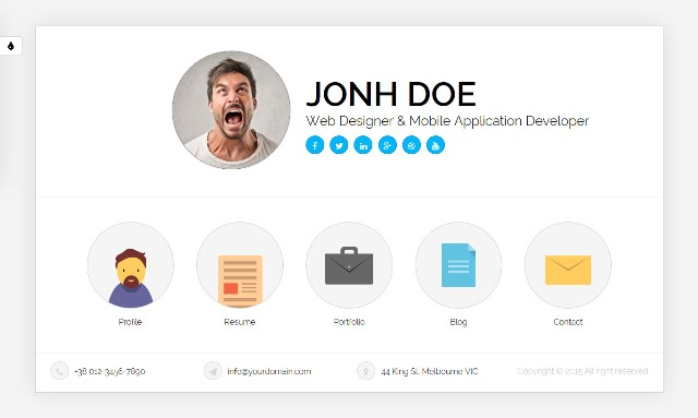 15+ Free And Premium Html Cv/Resume Templates - Webprecis