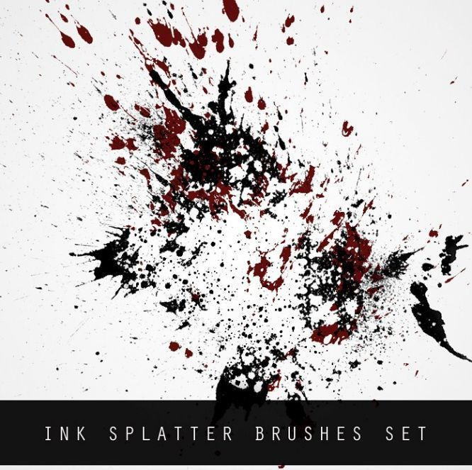 Ink Splatter Brush Set