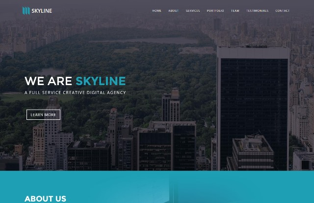 Skyline – One Page Creative Template