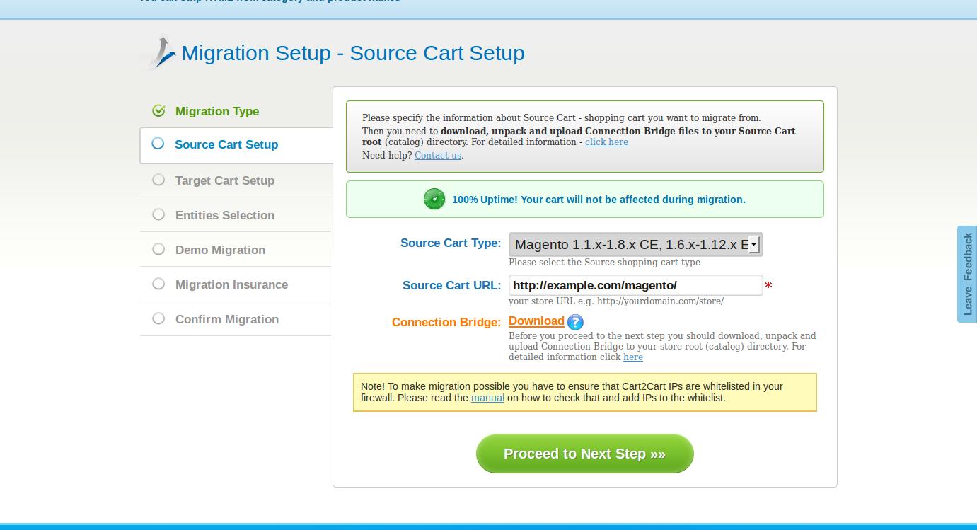 Configure the source