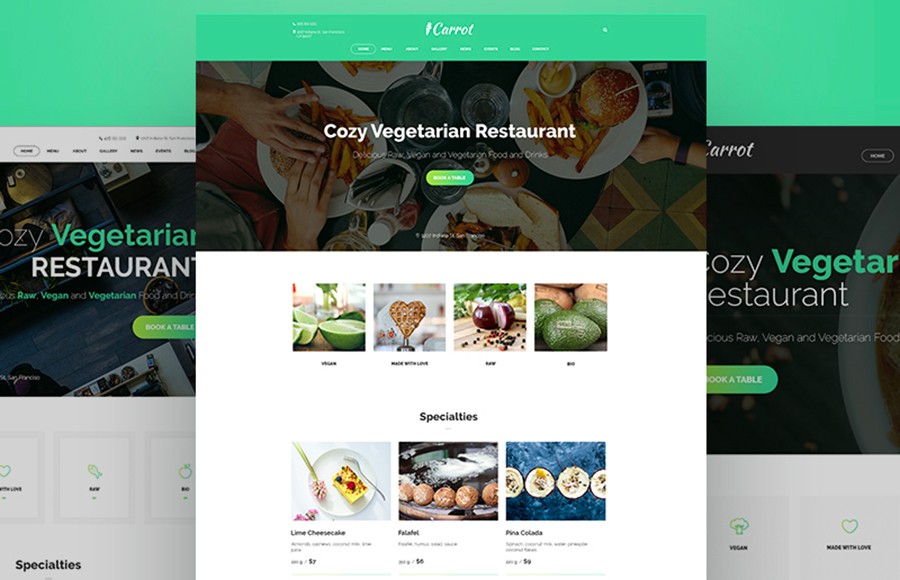 Carrot Restaurant Ready-made Website