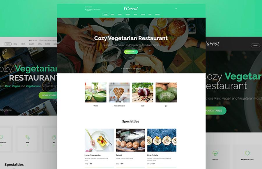 Carrot Restaurant Ready-made Website