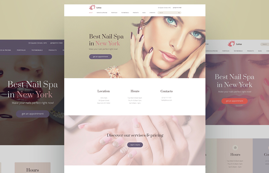 Lotus Nail Salon Ready-made Website