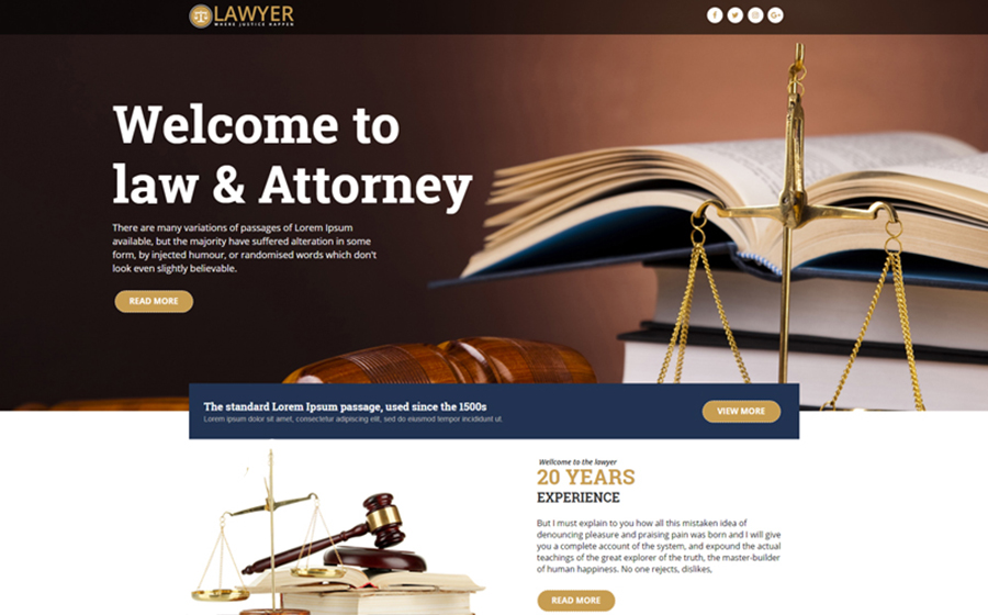 Lawyer - Unbounce Template