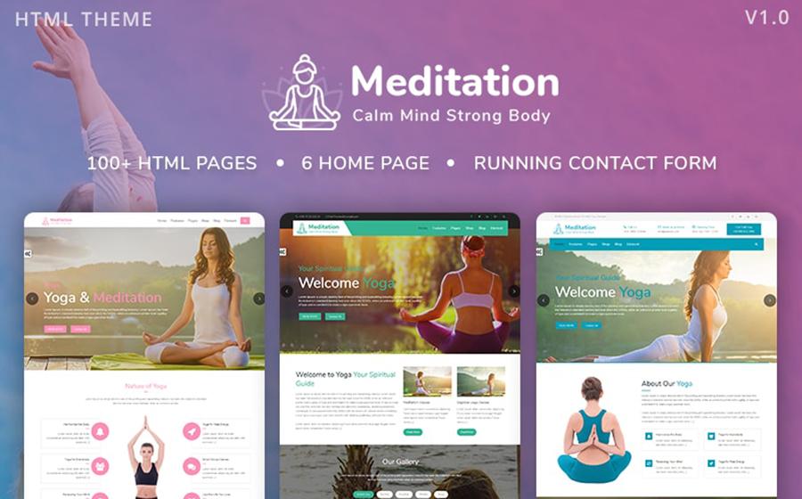 Meditation - Yoga, Fitness & Meditation Bootstrap Website Template