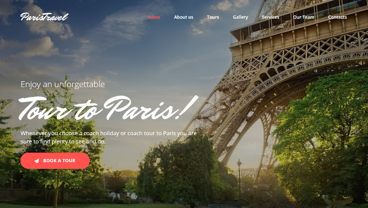 Paris Travel Agency Premium Moto CMS 3 Template