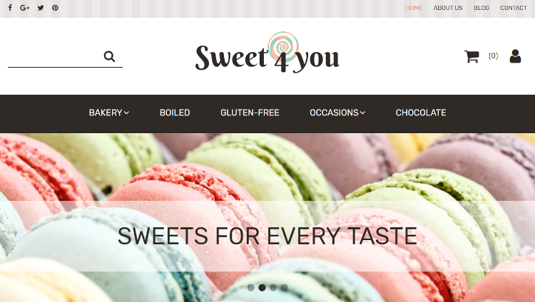 Sweet Shop Responsive MotoCMS Ecommerce Template