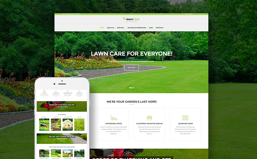 Lawn Care - Lawn Mowing & Landscape WordPress Theme