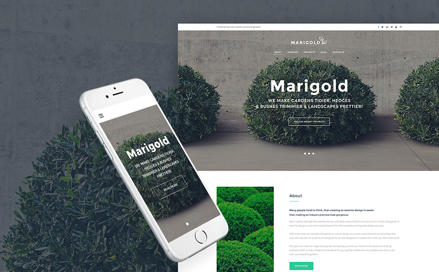 Marigold - Gardening WordPress Theme