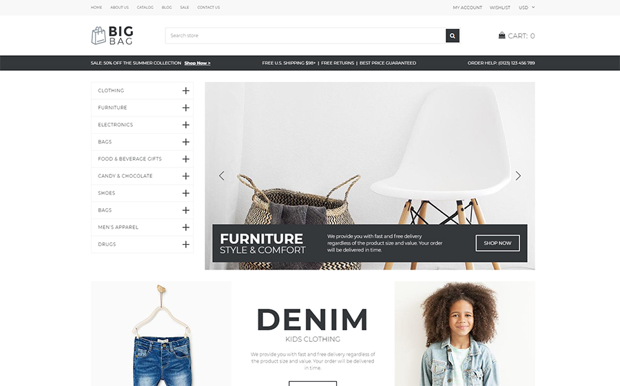 Wholesale Store Shopify Template