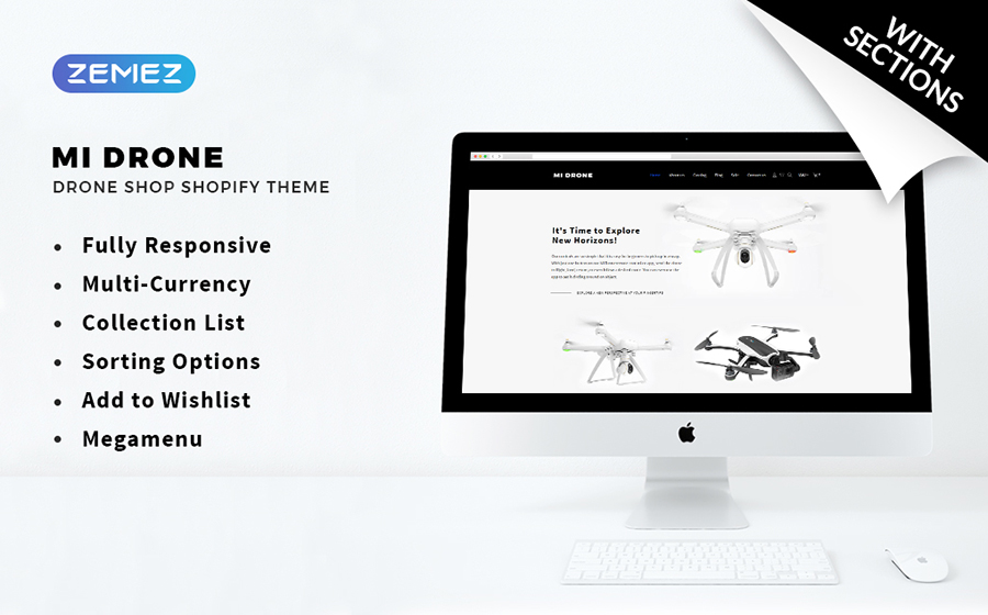 Mi Drone - Single Product Responsive Shopify Theme