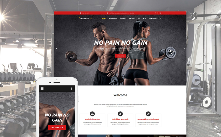 Intense Gym Website Template