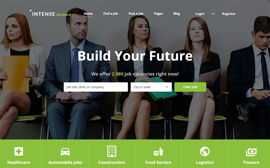 INTENSE Job Board Website Template