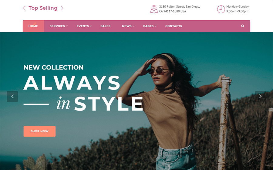 Top Selling - Fashion Store Multipage HTML5 Website Template