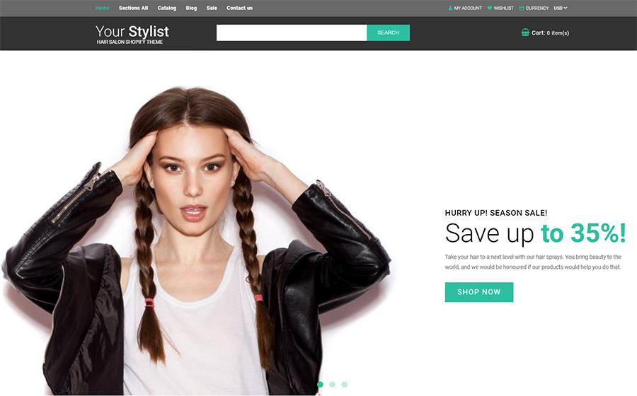 YourStylist - Hair Salon Shopify Theme