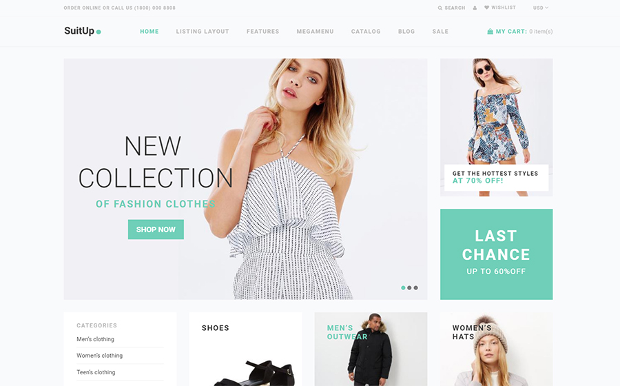 SuitUP - Multipurpose Online Store Shopify Theme