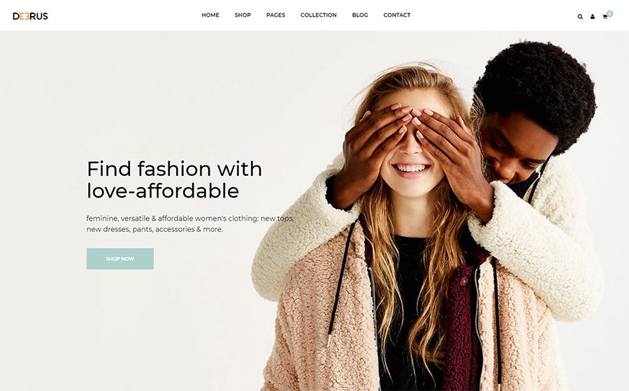 Deerus - Best Free Fashion Shopify Theme