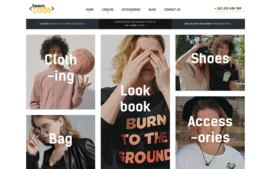 Teencode – Responsive Shopify theme