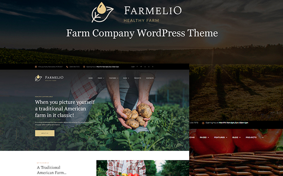 Farmelio - Farm Responsive WordPress Theme