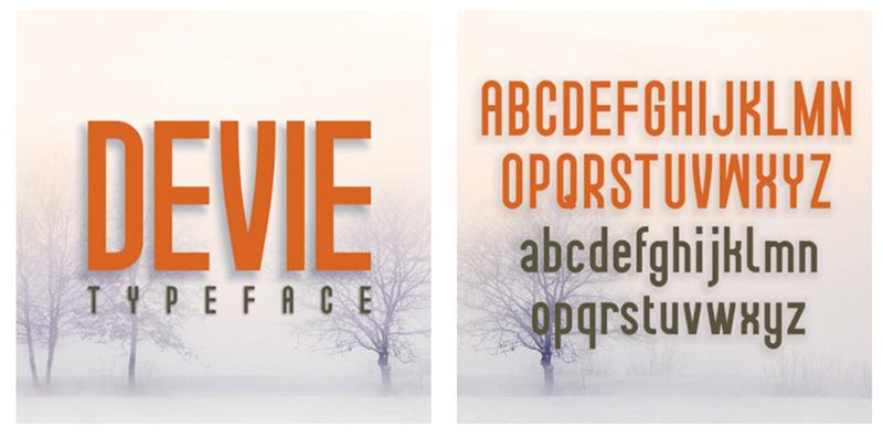 Devie Regular, Italic & Bold Font