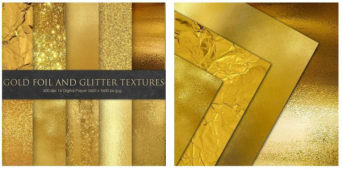 Gold Foil and Glitter Textures