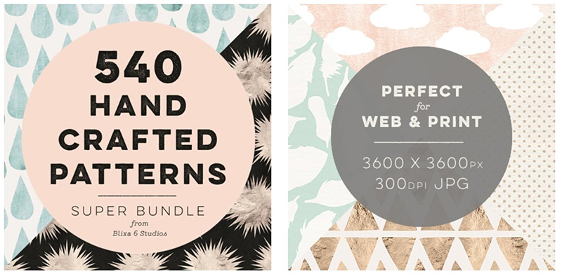 540 Hand Crafted Patterns Super Bundle from Blixa 6 Studios