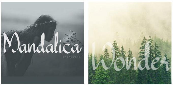 Mandalica Calligraphy Handwriting Font