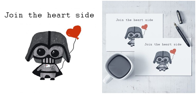 PRINTABLE Darth Vader Valentine card [Star Wars]