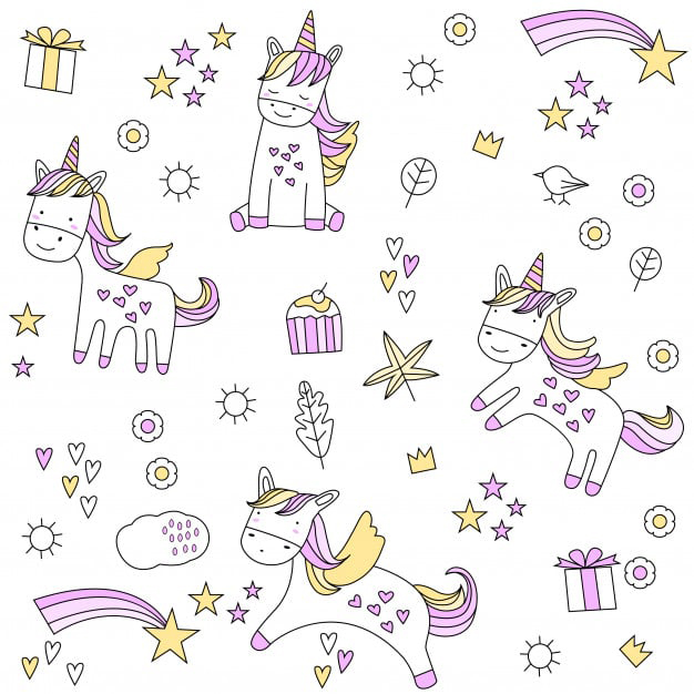 Unicorn Clipart Elements
