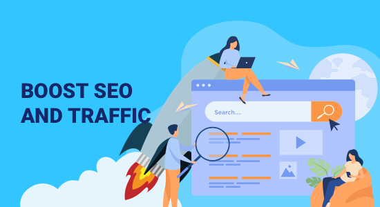 boost seo and website traffic